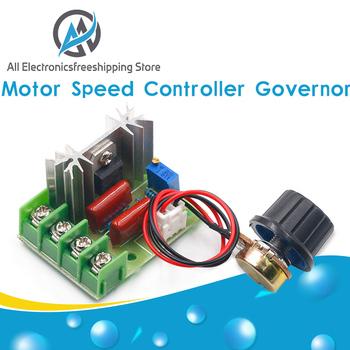 AC 220V 2000W High Power SCR Regulator napięcia ściemniacze ściemniacze Regulator prędkości silnika moduł gubernatora W potencjometr tanie i dobre opinie Silnik prądu stałego NONE CN (pochodzenie) DIY KIT