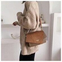 2020 new irregular matte fashion wide shoulder strap single chic wild geometric small square bag