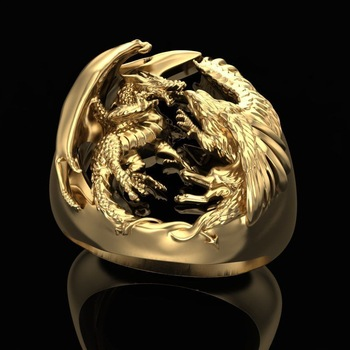bague dragon or luxe