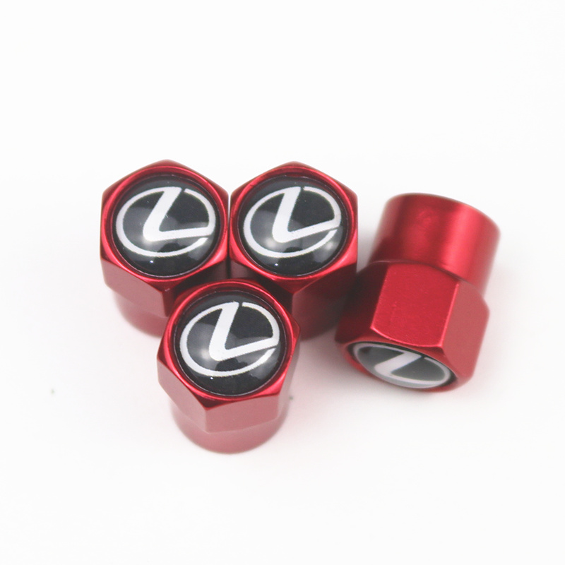 Car-Styling 4pcs Car Valve Caps Emblems Case For Lexus RX300 RX450 IS200 IS250 IS300 GS300 Auto Wheel Tire Valve Cover