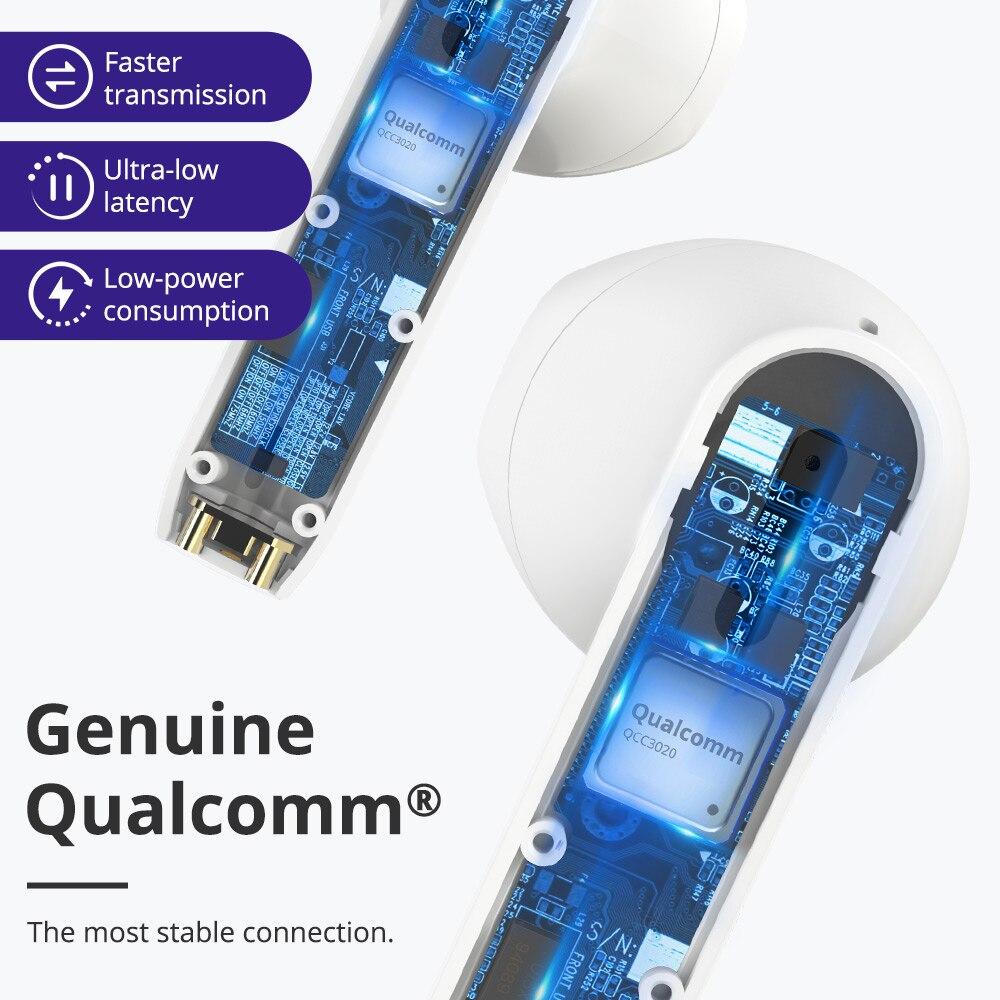 Tronsmart Onyx Ace TWS Bluetooth 5.0 ecouteurs Qualcomm aptX écouteurs sans fil annulation du bruit avec 4 micros, 24H de récréation - 4