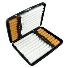 20 палочек черный матовый металлический чехол для сигарет из