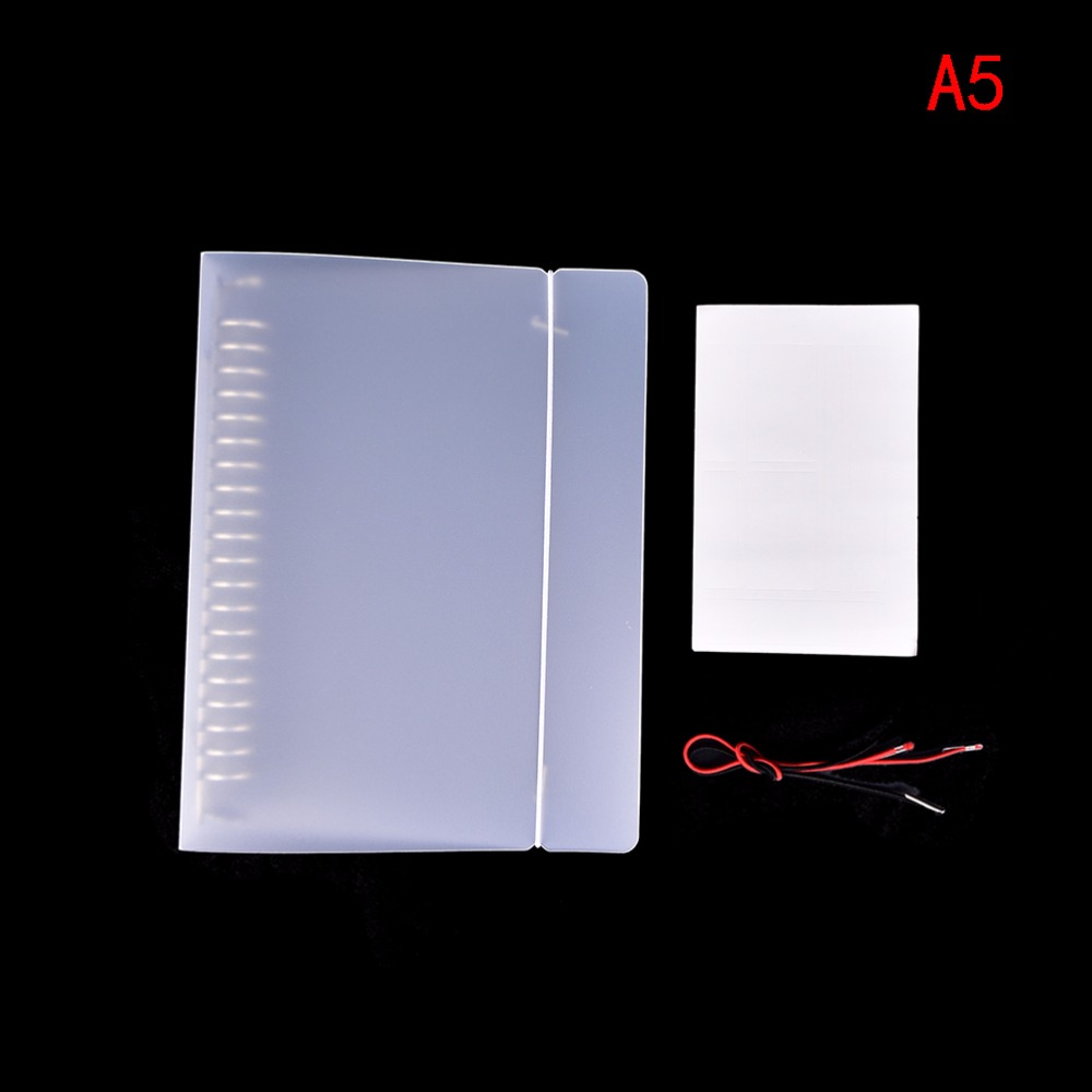 Hot  Pratical Cover For Notebook File Folder Refillable 20 Holes Ring Binder Spiral A5