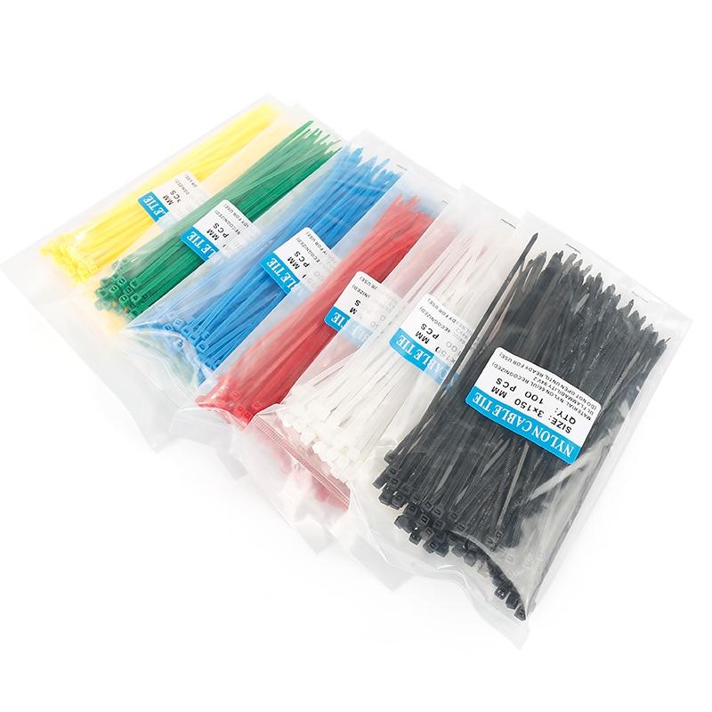 US $0.38 23% СКИДКА|150 мм самоблокирующиеся Нейлоновые кабельные стяжки 100 шт. пластиковые стяжки на молнии черные проволочные стяжки|Кабельные стяжки| |  - AliExpress