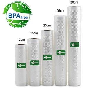 5 Rolls/ 2 Rolls Lot Kitchen Food Vacuum Bag Storage Bags for Vacuum Sealer Food Keep 12+15+20+25+28cm*500cm(China)