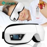 Auge Massager 4D Smart Airbag Vibration Auge Pflege Instrument Heiße Kompresse Bluetooth Auge Massage Gläser Müdigkeit Beutel & Falten