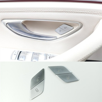 4Pcs Car Door Switch Unlock Buttons Sequins Decoration Cover Trim ABS For Mercedes Benz W205 W213 X253 C E Class GLC 2015-2019 1