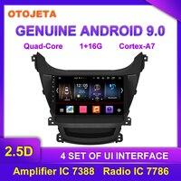 Factory direct sale OTOJETA Android 9.0 Car Multimedia Radio For 2016 Hyundai Elantra GPS AUX USB bluetooth Navigation Device