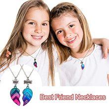 Meilleur Ami Colliers enfants Colliers BFF Colliers Demi-Coeur Colliers collares para mujer collier femme collier femmes