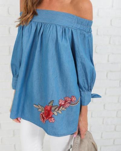new women blouse fashion 2020 female rose print fall festivals classics comfort  womens top shirt ladies clothing top xxl