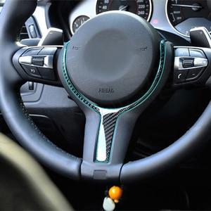 Image 5 - Real Carbon Fiber Steering Wheel Trim for BMW 550D 328M M Sport Steering Wheel Upgrade for BMW F10 F20 F30 F32 F34 F48 F25 F26