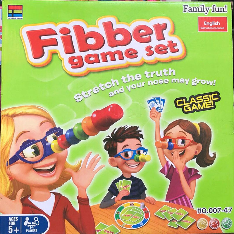 2-4 Players Liar Fibber Board Game Hilarious Noses & Glasses Stretch The Truth And Your Nose May Grow Family Funny Toys