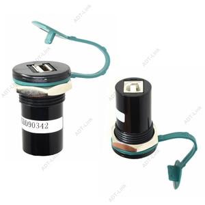 Image 2 - 22mm הרכבה קוטר USB 2.0 USB 3.0 USB B סוג ממיר שקע 22mm USB פנל הר מחבר עם אבק כיסוי