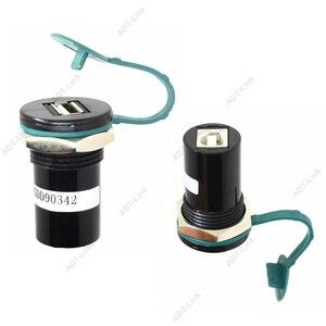 Image 2 - 22mm de diâmetro de montagem USB 2.0 USB 3.0 USB Tipo B Tomada Conversor 22mm USB conector de montagem em Painel com tampa protetora contra poeira
