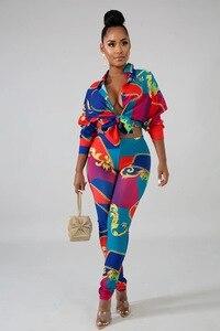 Image 3 - 2 sztuka zestawy afryki zestawy dla kobiet nowy afryki druku elastyczna Bazin workowate spodnie Rock styl Dashiki rękaw znane garnitur dla pani