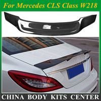 Renntech styling For Mercedes CLS Class W218 Spoiler Carbon Fiber Rear Trunk Spoiler Wing R Style  2012 2013 2014 2015 2016 2017