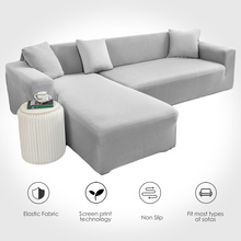 Sofa-Cover Stretch Loveseat Elasticity Solid-Color Big 1/2/3/4-seater