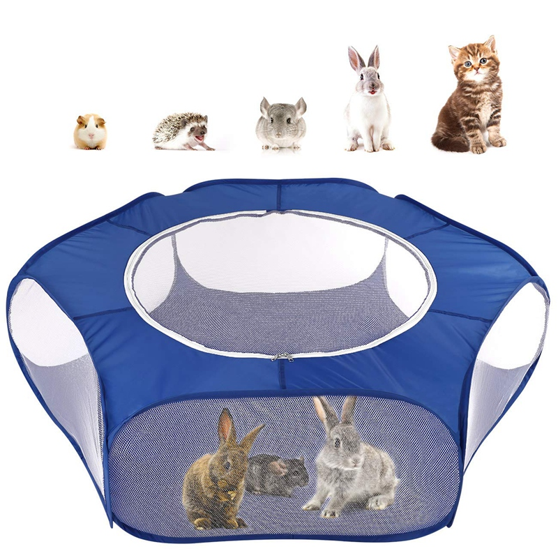 BMBY Small Animals Playpen Breathable Waterproof Small font b Pet b font Cage Tent with Zippered
