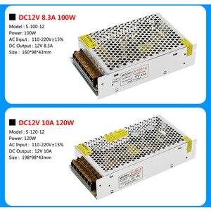 Image 4 - امدادات الطاقة DC12V 1A 2A 5A 8.3A 10A 15A 16.7A 20A 25A 30A 33A 40A 50A محولات الإضاءة LED سائق ل LED قطاع التبديل