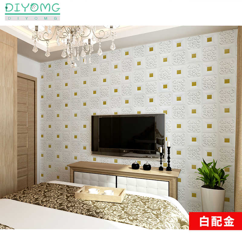 3d Roof Ceiling Wallpaper Pvc Waterproof Self Adhesive Foam Wallpaper Living Room Bedroom Roof Ceiling Contact Paper Decor Decal Wallpapers Aliexpress