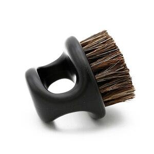 Image 5 - 1 sztuk wzór pierścienia włosia konia mężczyzn pędzel do golenia z tworzywa sztucznego przenośny fryzjer broda szczotki Salon czyszczenia twarzy Razor Brush Y 87