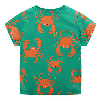 Crabs / Tiger / Crocodile Printed Cotton Baby's T-Shirt 2