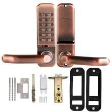 Mechanical Digital Password Code Door Lock Waterproof Smart Door Handle Locks Household Security Keyless Keypad Push Button lock
