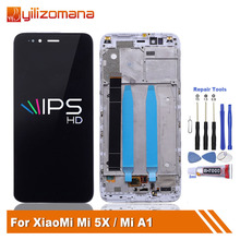 Original For Xiaomi Mi A1 MiA1 LCD Display Screen With Frame 10-Touch Screen Digitizer For Xiaomi Mi A1 Mi5X Mi 5X Display Frame aaaa original lcd for xiaomi a1 screen display digitizer assembly replacement lcd for xiaomi a1 screen with frame