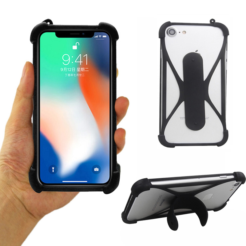 Universal Soft Silicone Bumper Cell Phone Holder Case For <font><b>Leagoo</b></font> <font><b>P1</b></font> <font><b>Pro</b></font> Case For <font><b>Leagoo</b></font> T8 5.5 inch image