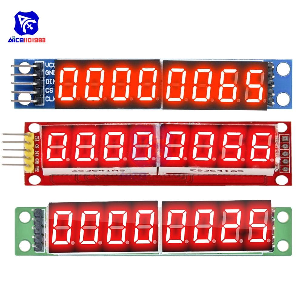 Diymore MAX7219 8 Digit LED Tube Display Control Module For Arduino 3.3V 5V Microcontroller Serial Driver 7-segment