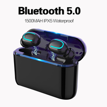 Bluetooth Earphones 5.0 TWS Wireless Headphones Bluetooth Headset Sport Earbuds Stereo Handsfree Headphone With Mic Charging Box 2017 newest k6 business bluetooth earphone headphones stereo wireless handsfree car driver bluetooth headset with storage box