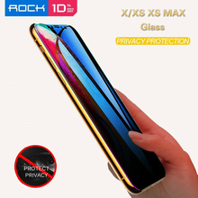 Rock IPhone XS Glass IPhone XS Max Glass Anti Spy 9H Tempered Glass Anti Fingerprint HD Tempered Glass For iPhone X XS XS MAX