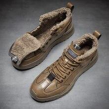 Зимние 2020 прогулочные ботинки для мужчин с мехом внутри; Повседневная