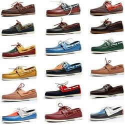 Мужские повседневные Мокасины из искусственной кожи на шнуровке, Мокасины, обувь для вождения, модная обувь унисекс размера плюс из замши ...