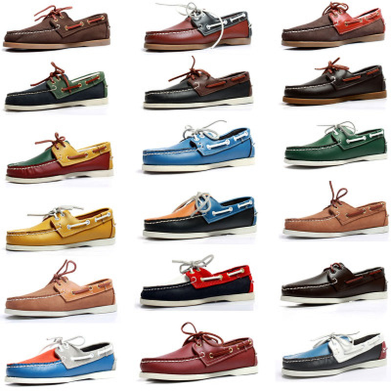 Mens Casual PU Leather Docksides Deck Lace Up Moccain Boat Loafers Shoes Driving Fashion Unisex Plus Size Suede Leather B155