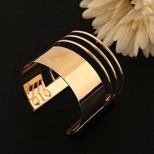 Pulsera de oro multicapa para mujer, Nueva moda hueca, personalidad simple, gran calidad, oro de mujer