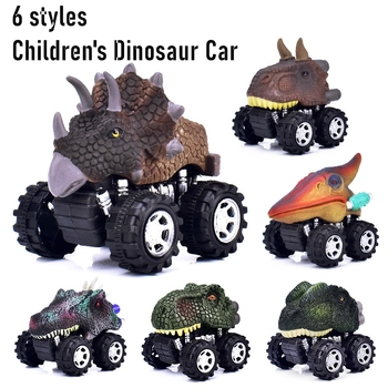 Dinosaur Toys Pull Back Cars  Dinosaur Model Mini Toy Car Back Animal Vehicles Car Gift Truck Hobby Educational Kids Toys Truck недорого