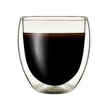 250 мл термостойкая стеклянная чашка с двойными стенками, чашка для чая, напитков, ручная работа, изолированная прозрачная стеклянная Прозрачная форма для яиц, водное стекло