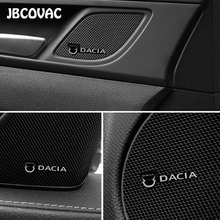 Car Decoration Accessories Auto Audio Speaker Stereo Sticker For Dacia Duster Logan Mcv Sandero Stepway Dokker Lodgy Car Styling
