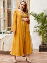 Ramadan Elegant Muslim Women Dress Turkey India Embroidered Abaya Duabi Arabic Vestidos Moroccon Kaftan Islamic Jilbab Gown Robe