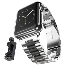 Stainless Steel Strap Wrist Band Replacement with Durable Folding Metal Clasp for Apple Watch series4 3 2 1 iwatch 38mm 42mm