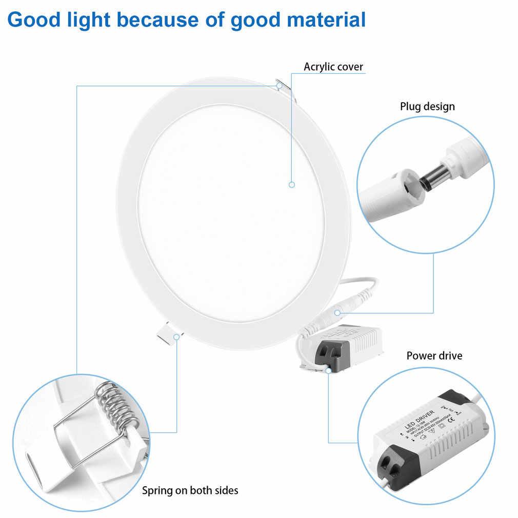 18W Super Bright ultra-cienkie oświetlenie panelowe LED lampy sufitowe lampa wbudowana oprawa z LED Driver 205mm otwarty otwór okrągły