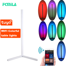WIFI RGB Corner Table Lamp Modern Simple LED Rod Lamps for Living Room Bedroom Atmosphere Standing Indoor Light Fixtures Decor
