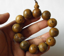Pulseira de monge budista shaolin 2cm, pulseira de madeira de sândalo com contas de oração