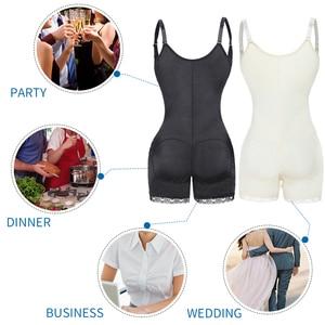 Image 4 - Bodysuit Shapewear Full Body Shaper Waist Trainer Women Abdomen Shapers Tummy Control Slimming Sheath Seamless Briefer Corset