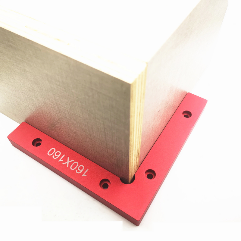 Aluminum Square Right Angle 90 Degree L-shaped Auxiliary Fixture Positioning Panel Fixing Clip Woodworking Carpenter Tools
