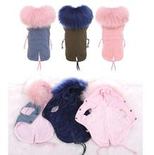 Winter Dog Parkas Teddy Coat for Dogs Fleece  Warm Faux Fur Hood Overalls for Dogs  XS S M L XL