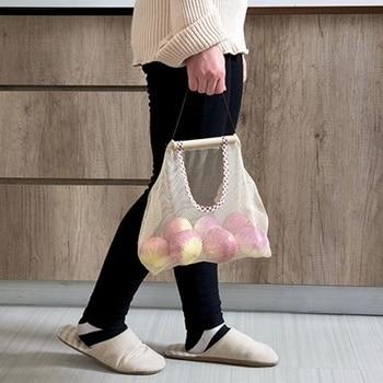 Multi-purpose Kitchen Onion Potato Tomato Large Capacity Storage Hanging Basket Fruit Garlic Ginger Bag Organize Mesh Pouch 6