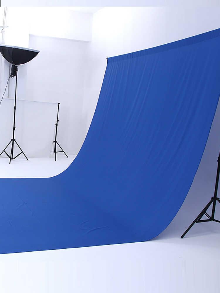 3*5M pantalla verde fotografía telón de fondo poliéster algodón textil muselina Color sólido Foto fondo espesar telones de fondo tela