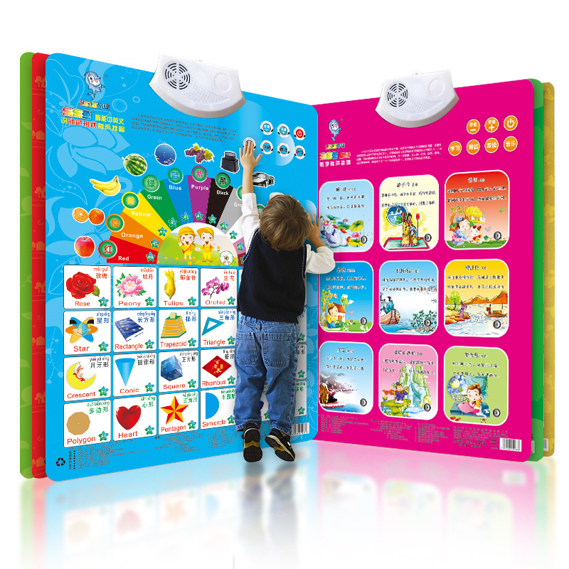 Chinese Pinyin Audio Chart Young CHILDREN'S Cognitive ENLIGHTEN Early Education Sound Making Baby With Pictures Reading Toy Alph